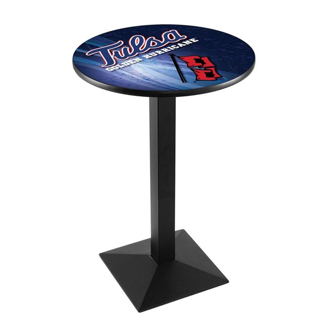 Holland Bar Stool L217B3636TulsaU-D2 36 in. Tulsa Golden Hurricanes Pub Table with 36 in. Top - image 1 of 1
