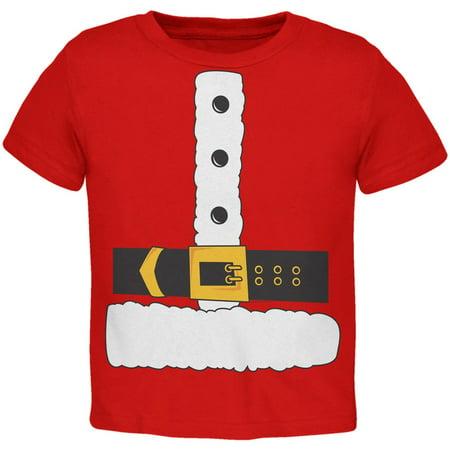 Santa Claus Costume Toddler T-Shirt - Santa Uniform