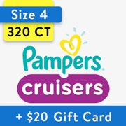 [Save $20] Size 4 Pampers Cruisers Diapers, 320 Total Diapers
