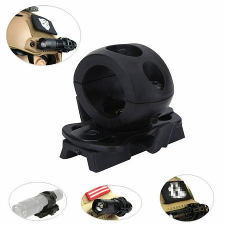Flashlight Bracket - Portable 60-degree Angle Adjustment Range Plastic Torch Mount Flashlight Holder Bracket for Fast Helmet (Black)