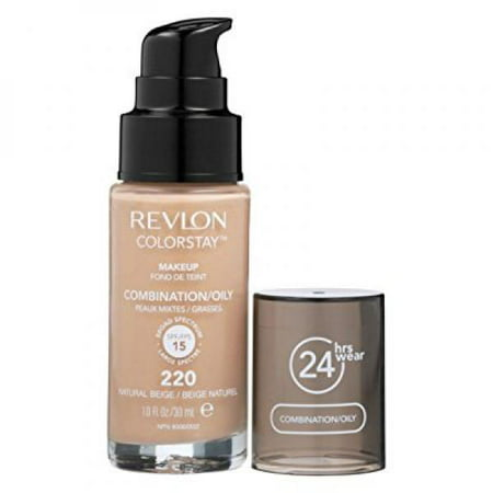 Revlon ColorStay Liquid Makeup for Combination /Oily Skin, Natural Beige, 1.0 Fl
