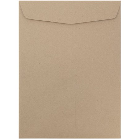JAM Paper Open End Catalog Envelopes - 10 x 13 - Brown Kraft Paper Bag Recycled -