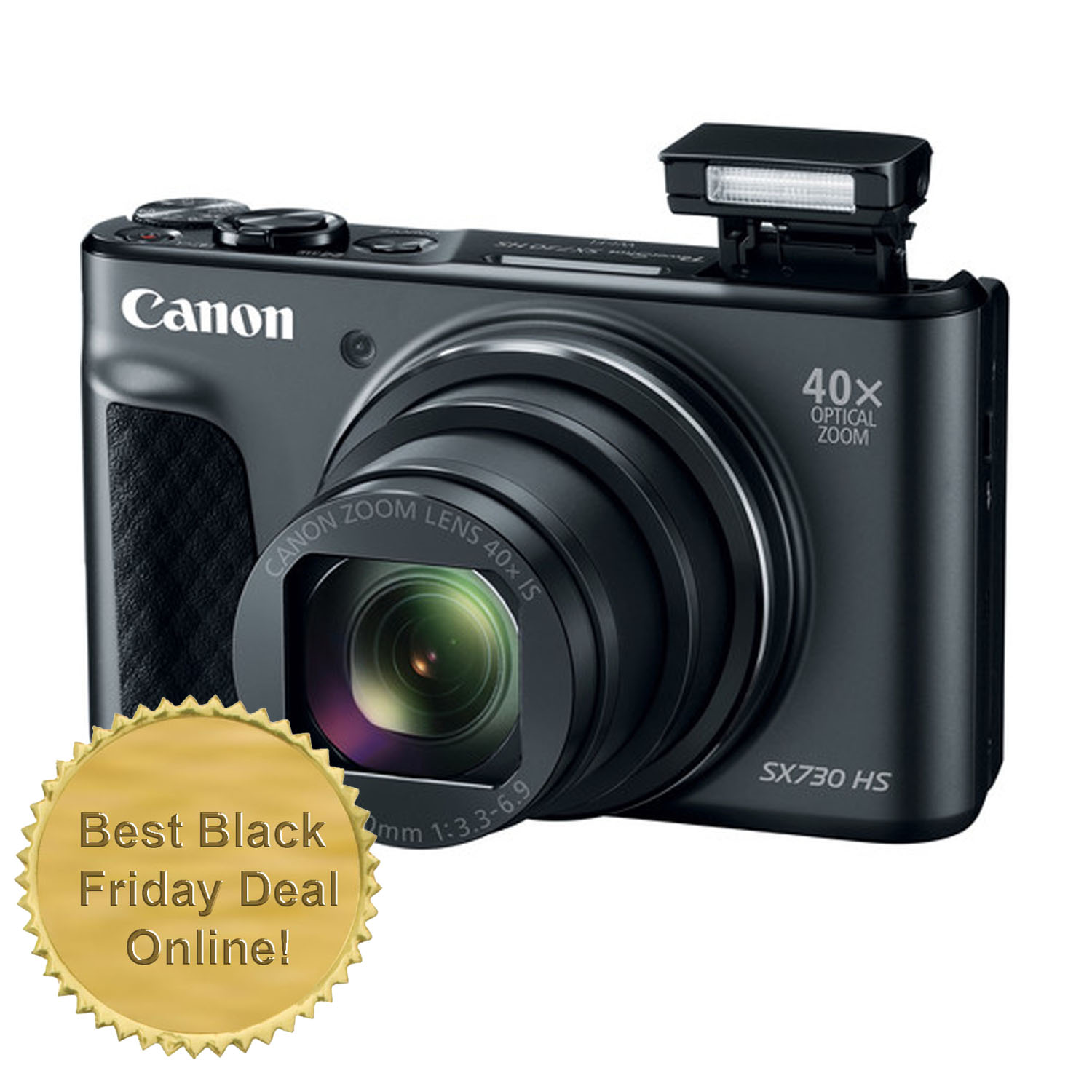 Canon PowerShot SX730 20.3MP Wifi Digital Camera Black - Best Black Friday Deal