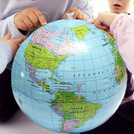 5pcs 38cm pvc inflatable globe inflate earth world teacher map beach ball toy home decor geography