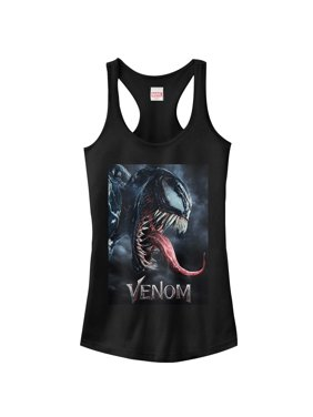 2f4374ff1aeaad Product Image Marvel Juniors  Venom Film Tongue Portrait Racerback Tank Top