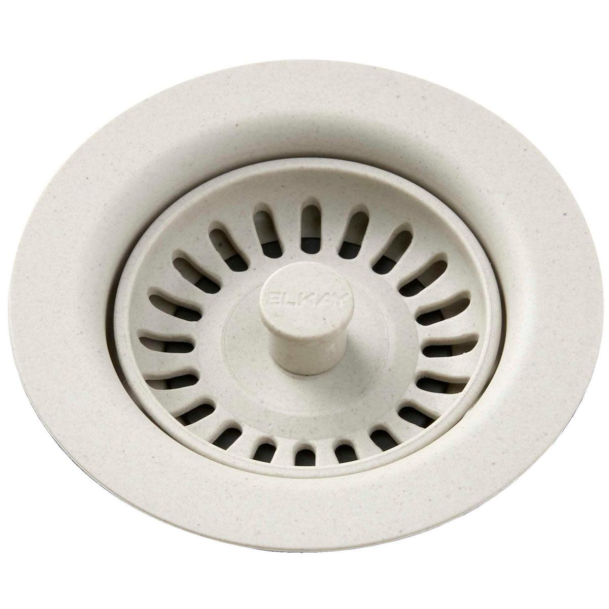 "Elkay LKQS35 3-1/2"" Drain Fitting with Removable Basket Strainer and Rubber Stopper"