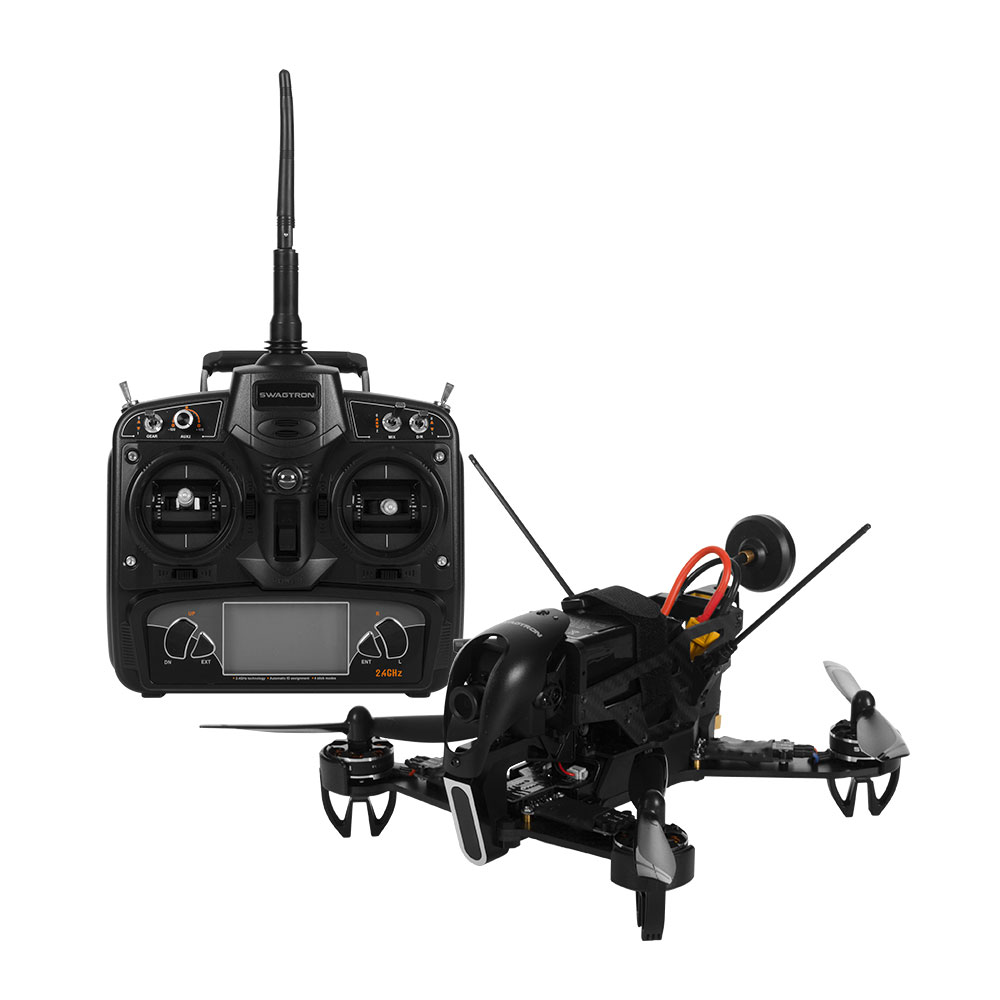 Unrivaled SWAGTRON SwagDrone 210-UP 5.8G Carbon Fiber FPV Racing � 700TVL Camera, Failsafe... by Swagtron