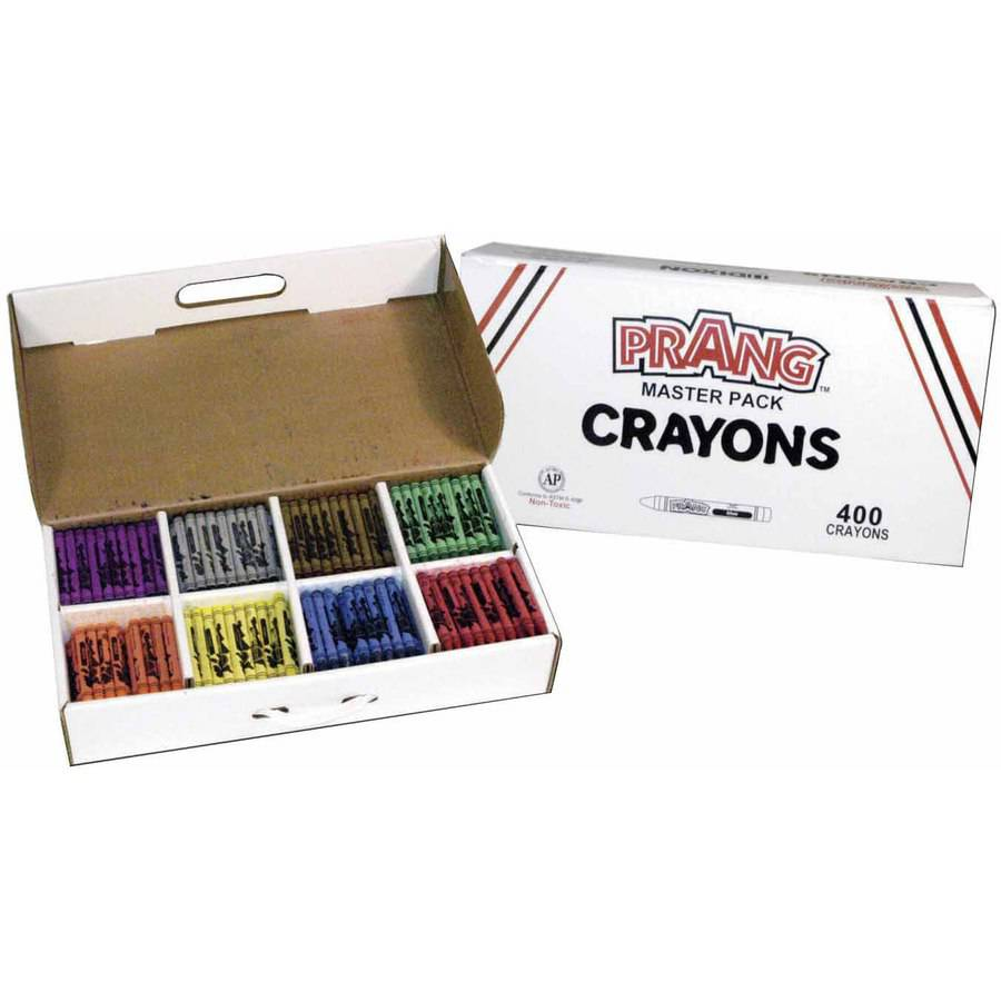Prang Crayon Classroom Pack, Assorted Colors, Pack of 400