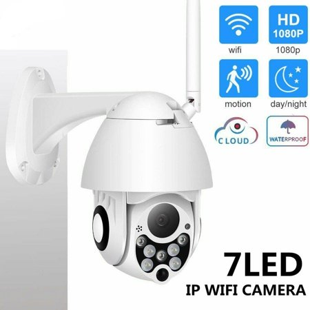 WiFi 2MP HD 1080P IP Camera Night Vision IP66 Waterproof Outdoor Wireless with 7 LED Infrared IR Cam Two-way -