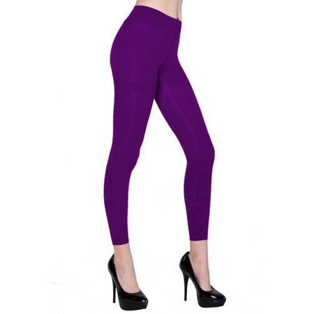 70f0628341f6c Belle Donne - Belle Donne - Women's Footless Leggings Basic Fashion Casuals  Solid Color Tights - Purple - Walmart.com