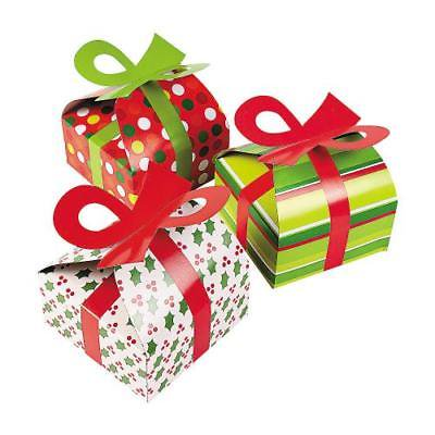 In 4 4604 3d Christmas Gift Boxes With Bow Per Dozen