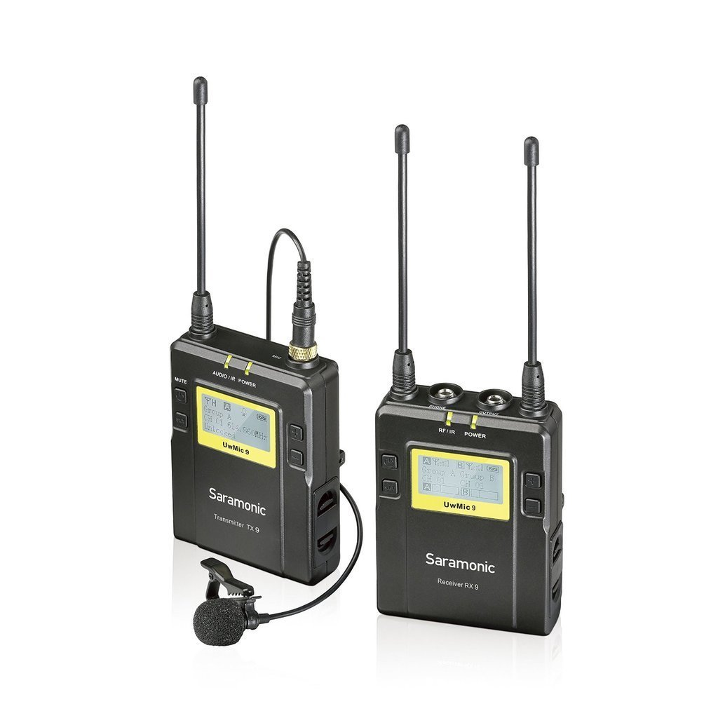 Saramonic UWMIC9 96-Channel Digital UHF Wireless Lavalier Microphone System (UWMIC9) with... by Saramonic