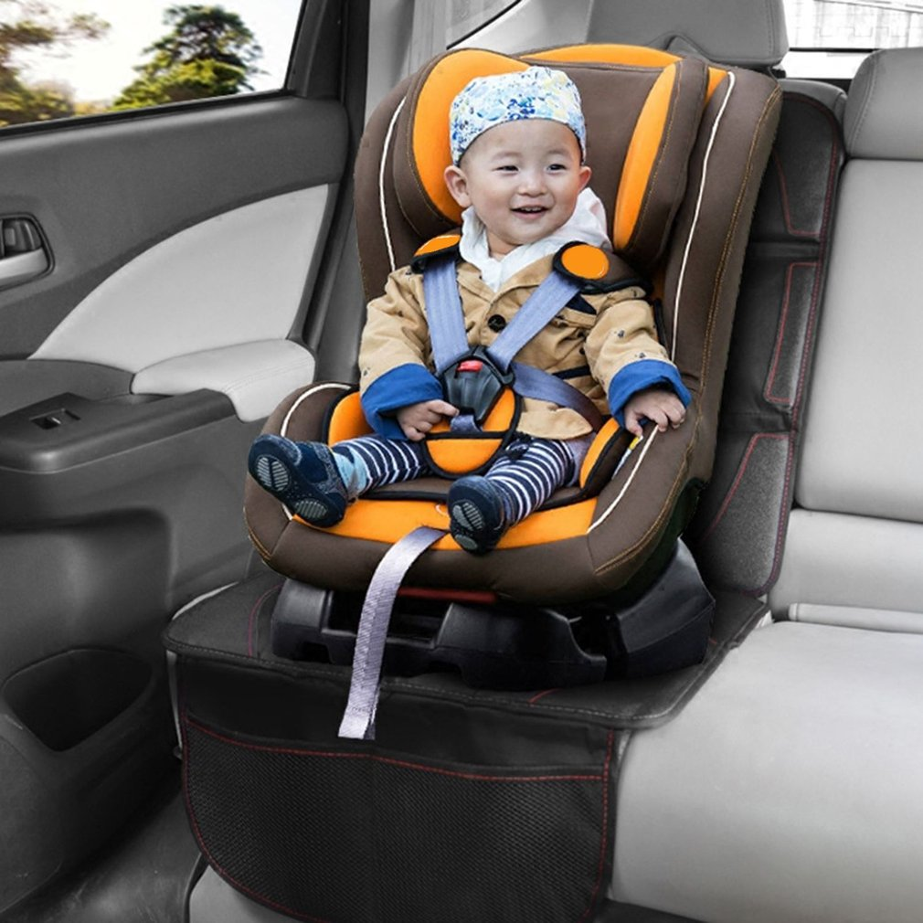Baby Kids Leather Anti Slip Car Seat Pad Lattice Mat Chair