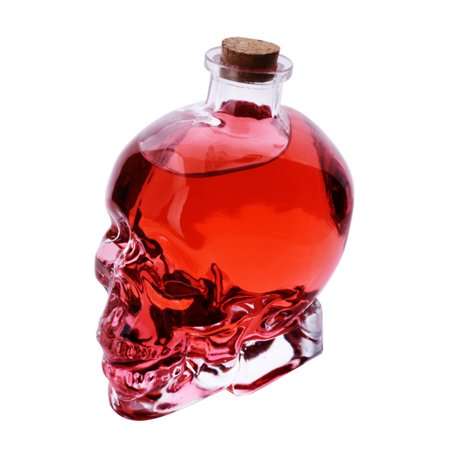 Uarter 180mL Skull Glass Wine Decanter Multi-purpose Whiskey Decanters Creative Vodka Bottle