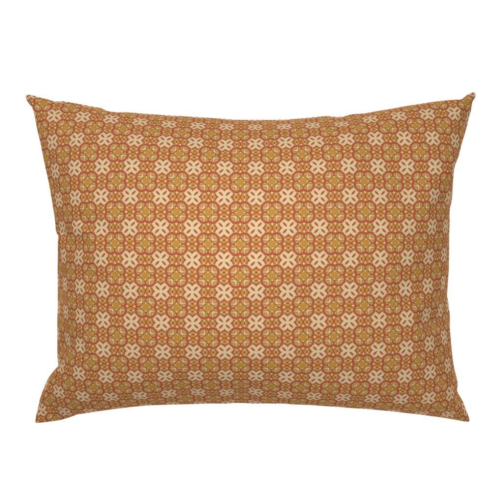 Scandinavian Cream Orange Trellis Gold Rosemaling Knot Pillow Sham By Roostery Walmart Com Walmart Com