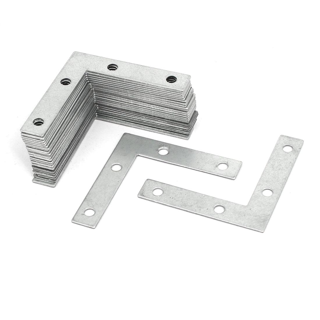 uxcell 24mmx9mmx0.5mm Metal Rectangle Flat Repair Fixing Plate Angle Bracket 100pcs