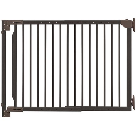 Richell Expandable Walk Thru Pet Gate Coffee Bean