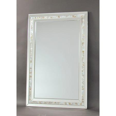 Wayborn Mother Of Pearl Beveled Wall Mirror Walmart Com