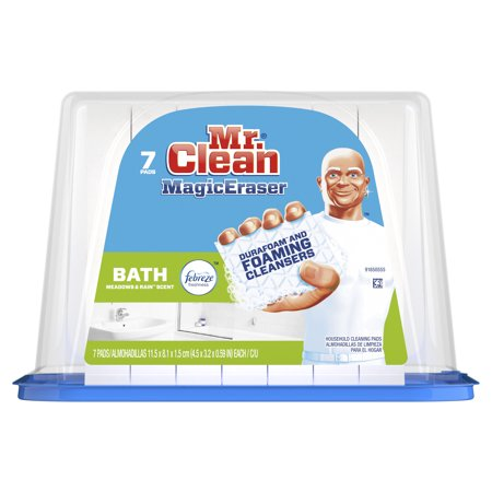 - Mr. Clean Magic Eraser Bath, Cleaning Pads with Durafoam, 7 count