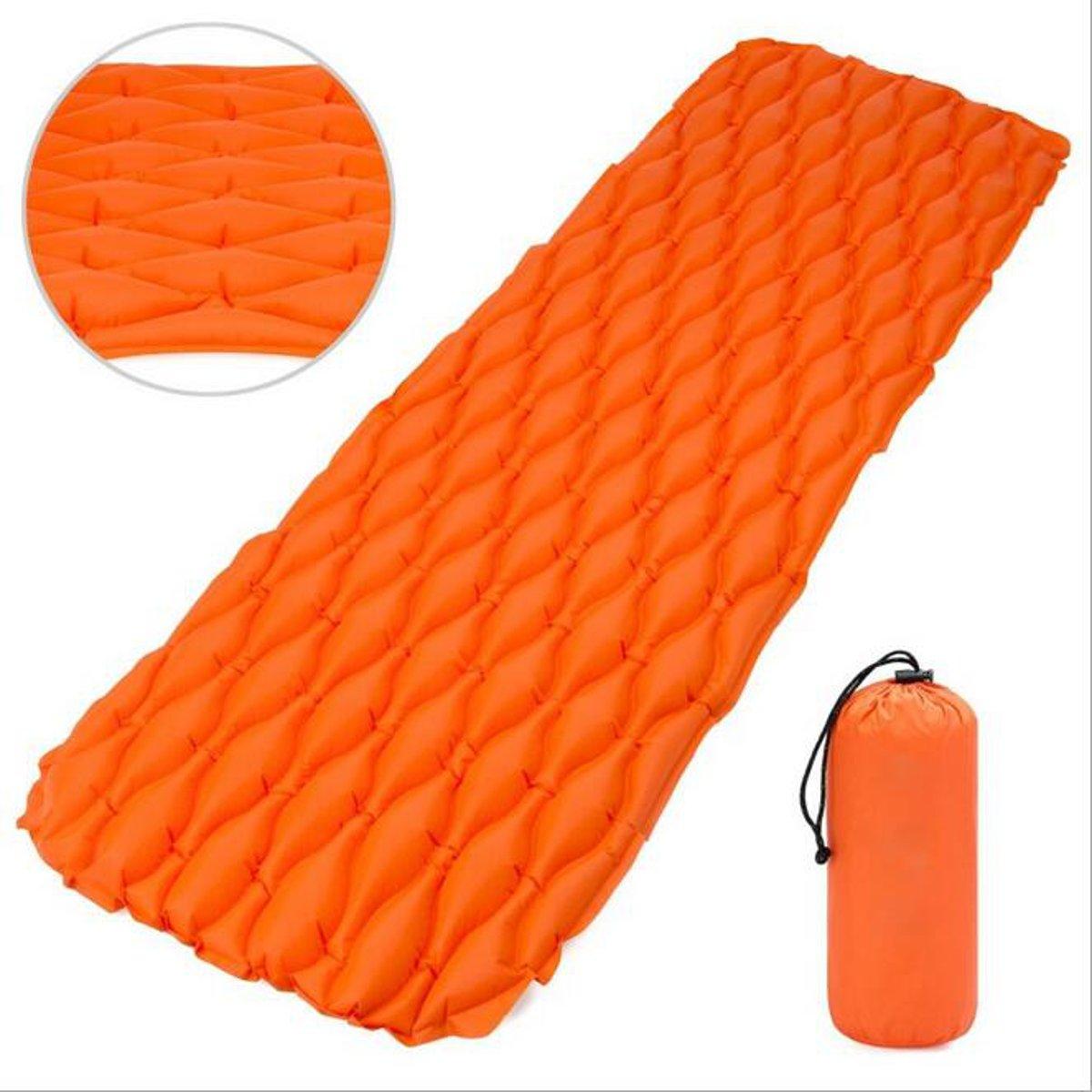 Portable Inflatable Sleeping Pad Compact Camping Backpacking Air Pad Lightweight Sleeping Mat Portable Hiking Mattress