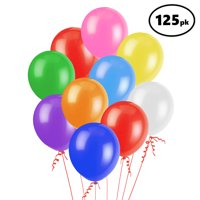 Assorted Color 12 inch Party Balloons Perfect for Kids Birthday Parties, Events, or Activities Made of Strong Latex Easy to Inflate Fill with Air, Helium or Water 125 Pack