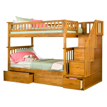 Atlantic Furniture Columbia Staircase Twin Over Bunk Bed