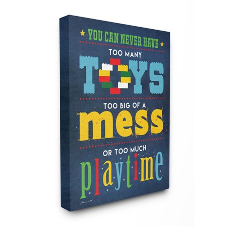 The Kids Room By Stupell Toys Mess And Playtime Xxl Stretched Canvas