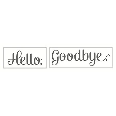 Hello Goodbye Quote Wall Decals Art for Entryway, 23 x 4.5-Inch, Storm - Hello Kitty Wall Decor