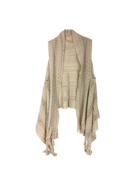 54bf15cbfd Product Image Karma Knit Sleeveless Duster Vest w Fringe Hem