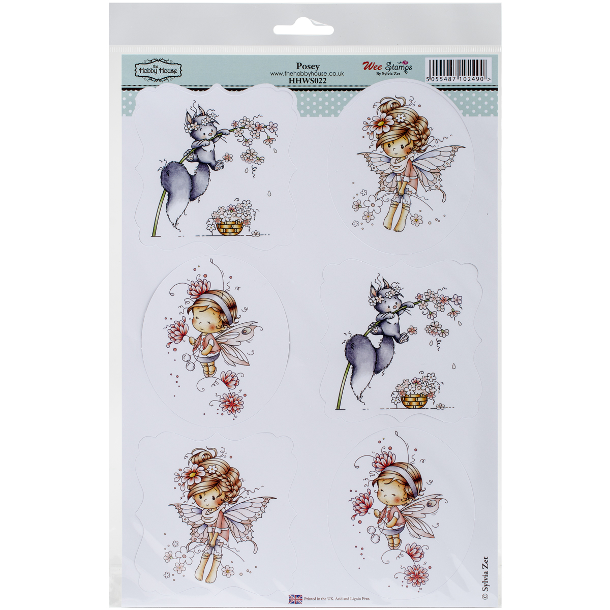 "Wee Stamps Topper Sheet 8.3""X12.2""  -Posey"