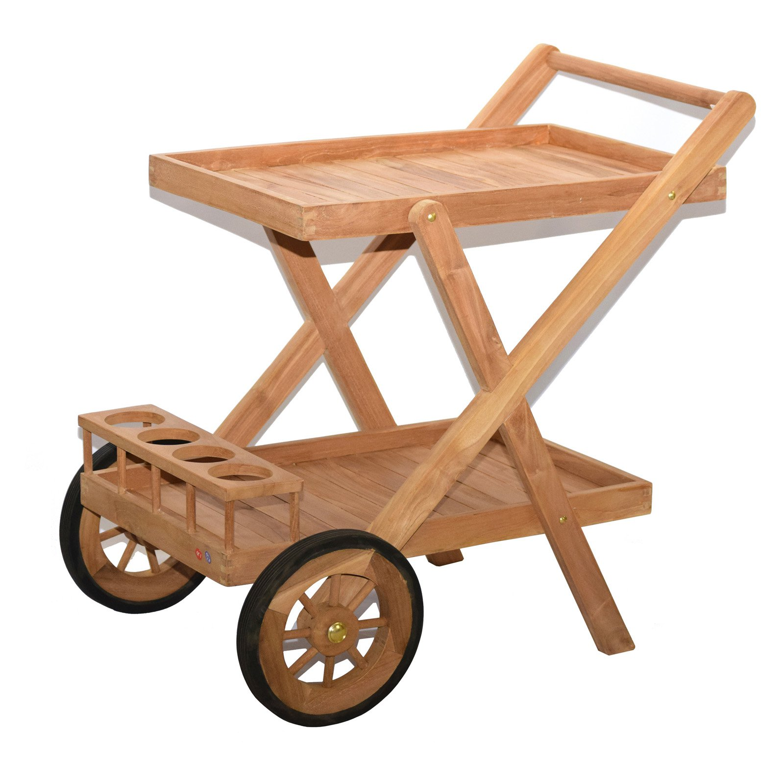 Bamboo54 Teak Outdoor Serving Cart by Bamboo54