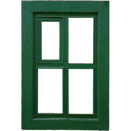 Canvas Print Green Frame Old Wood Window Stretched Canvas 10 x 14 ...
