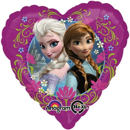 Disney Frozen Anna And Elsa  Heart Shape Foil Balloon 18