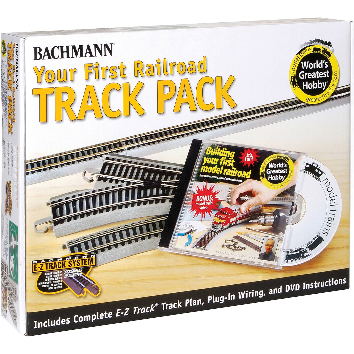 Bachmann Trains Nickel Silver World'S Greatest Hobby First Railroad Track Pack, HO Scale by Bachmann Trains