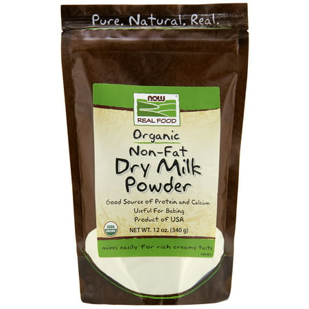 Now Non Fat Dry Milk Organic, 12 Oz