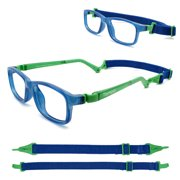 Tempo Ultra: 300316 Unbreakable Kids Glasses with Headstrap Age 5-8Yr | Cobalt Blue