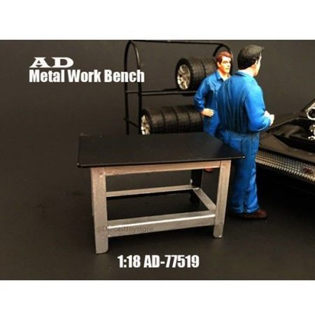 Tremendous American Diorama 1 18 Metal Black Work Bench Ad 77519 Gmtry Best Dining Table And Chair Ideas Images Gmtryco