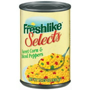 (6 Pack) Freshlike Selects Sweet & Peppers Diced Corn, 15.25 Oz