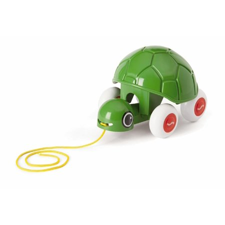 Pull Along Turtle - First Pull Toy with Bobbing Head - Rolls Silently for Ages 1 and Up - Dishwasher Safe, Your toddler will love it as this.., By Viking