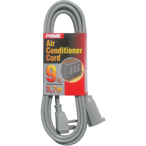 Prime Air Conditioner and Major Appliance Extension Cord, Gray, 9-Feet