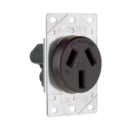 Pass & Seymour 3890CC6 Flush Outlet 50A 125/250V 3W