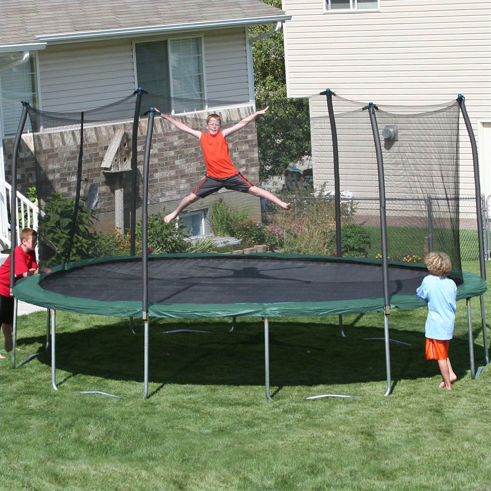 17 ft. x 15 ft. Oval Trampoline and Enclosure Combo