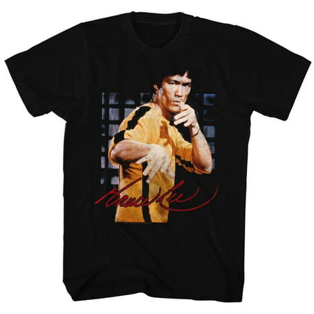 Bruce Lee Icons Brucelee Adult Short Sleeve T Shirt (Tall And Short Halloween Costumes)