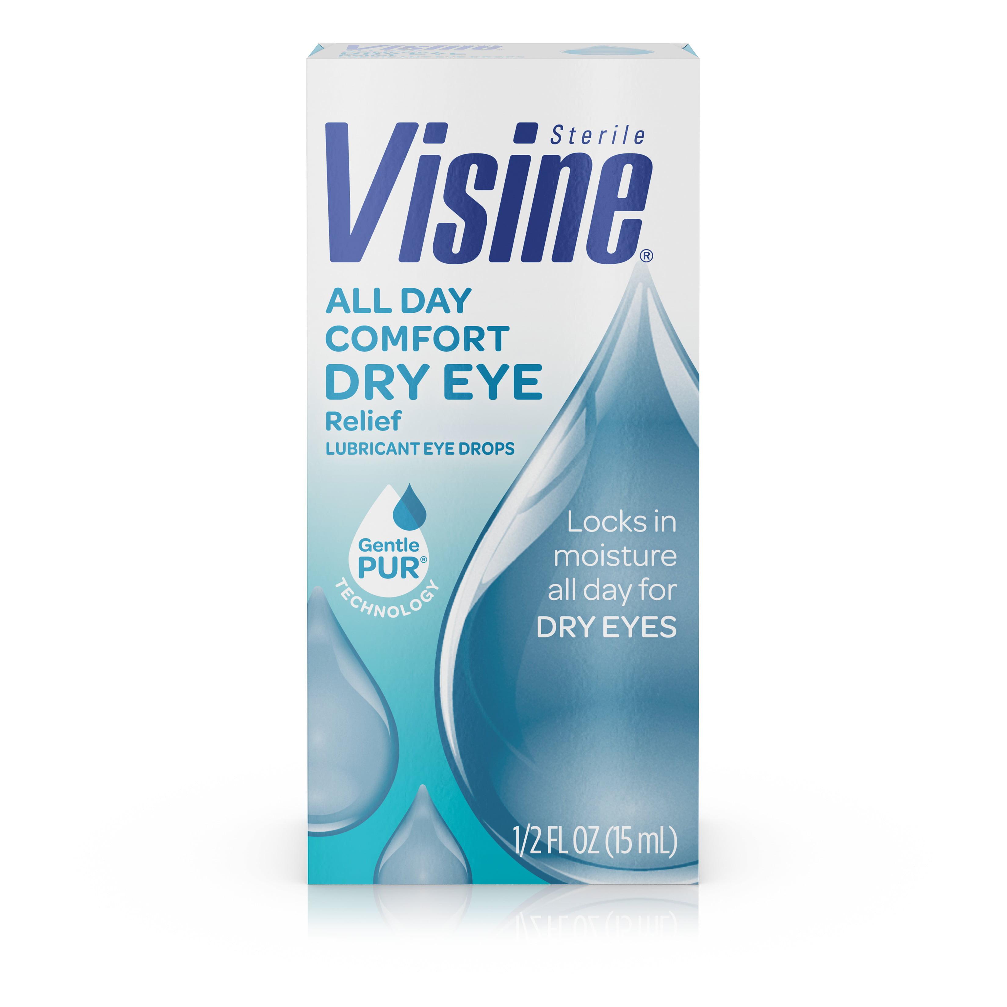 Visine All Day Comfort Dry Eye Relief Eye Drops, 0.5 fl. oz