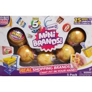 Zuru 5 Surprise Series 2 Mini Brands (Gold) 5 Pack