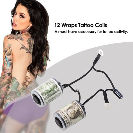 12 Wraps Tattoo Coils Parts Copper Tattoo Machine Gun Coils Tattoo Accessory - Coils Tattoo