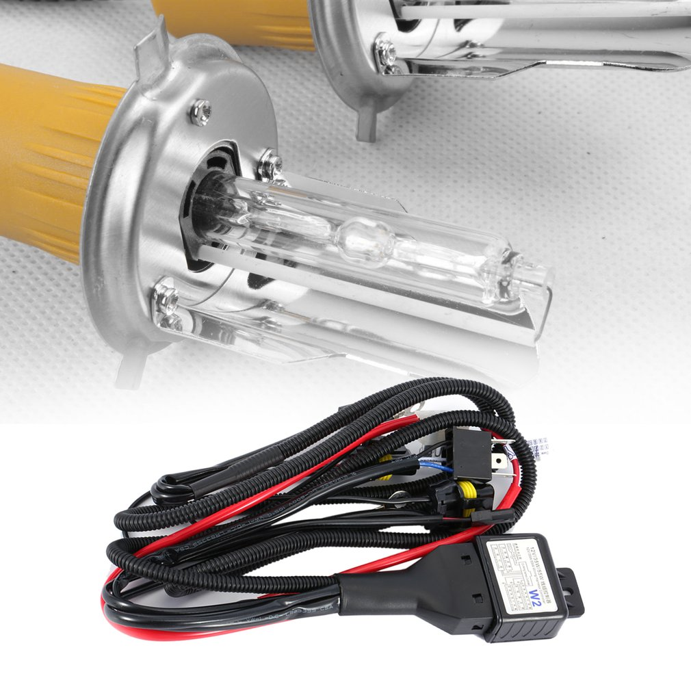 Hilo Scooter 4 Wire Switch Diagram Simple Wiring Basic Headlight Motorcycle Universal 35w 12v Xenon Harness Hi Lo Hid Battery Motor