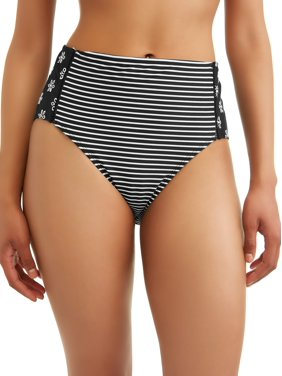 7bd72fbe4393d Product Image Women's Shadow Stripe High Waist Swimsuit Bottom