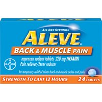 Aleve Back & Muscle Pain Reliever/Fever Reducer Naproxen Sodium Tablets, 220 mg, 24 Ct