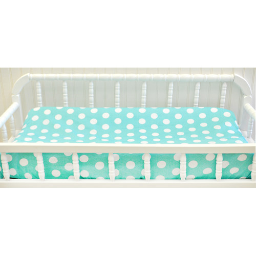 My Baby Sam Pixie Baby Polka Dot Contour Changing Pad Cover